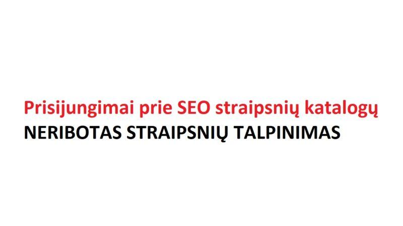Parduodami prisijungimai prie svetainių SEO straipsnių talpinimui